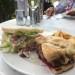 Prawn and steak sandwich at Noosa Springs