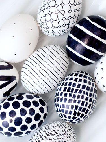 minimalist modern easter eggs