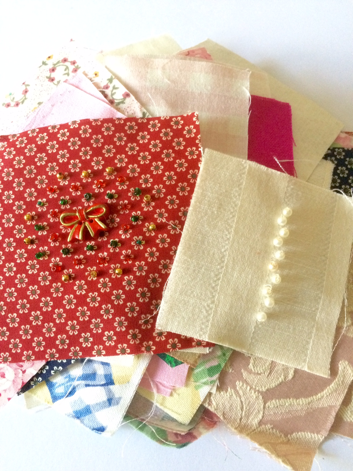 beading and sewing