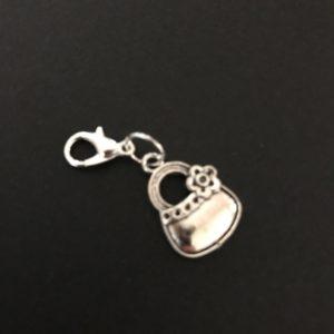 silver purse midori notebook charm