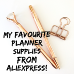 My Favourite Planner Supplies From Aliexpress