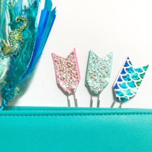 Holographic mermaid tail page markers