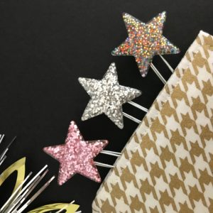 Sparkly star planner clips