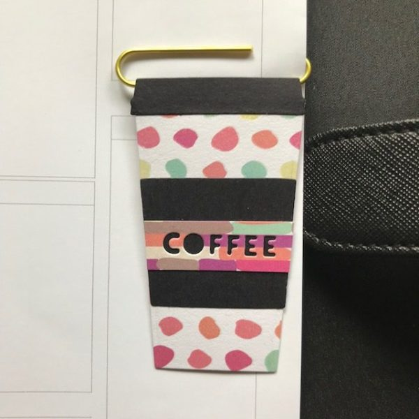 Colourful planner coffee clip
