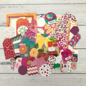bright coloured diecut paper decoration pack