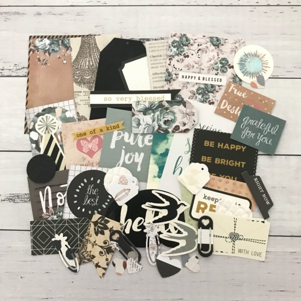 classic chic diecut journal decorating pack