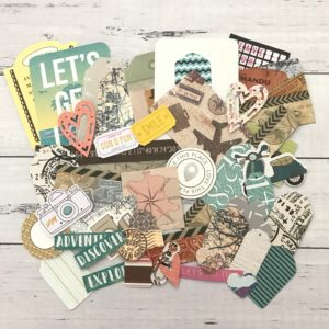 travel diecut paper decorating pack