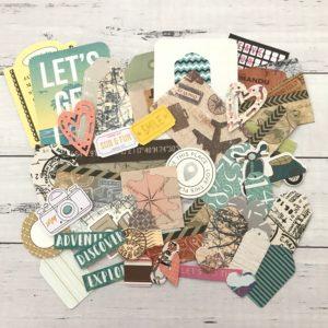 travel diecut paper decorating pack
