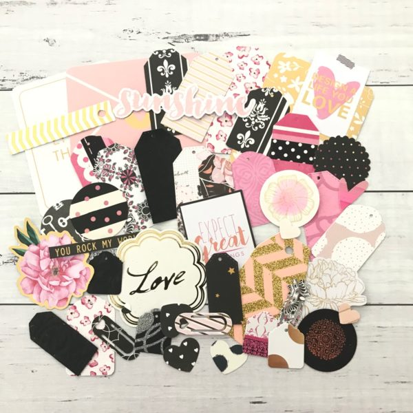 chic diecut paper journaling pack
