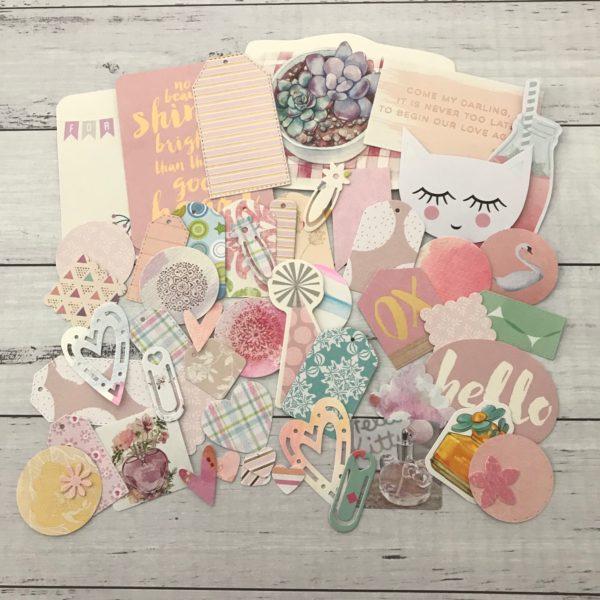 pastel diecut paper pack