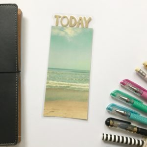 beach planner page marker